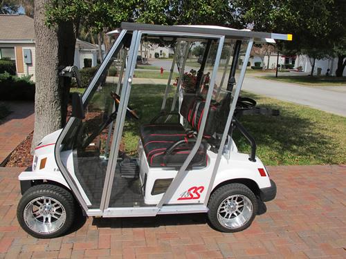 Golf cart enclosures with doors the best cart for Golf cart garage door prices